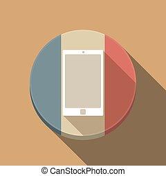 lungo, francia, telefono, bandiera, uggia, far male