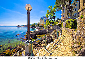 Lungomare coast famous walkway in Opatija