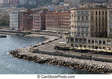 Lungomare in Naples, Italy