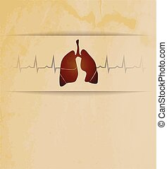 Lungs and cardiogram