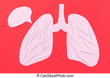 Lungs and cigarettes. The concept of harm