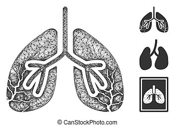 Lungs Cancer Polygonal Web Vector Mesh Illustration