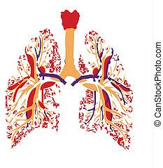 lungs vital organ for breathing