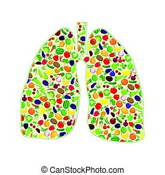 Lungs healthy silhouette
