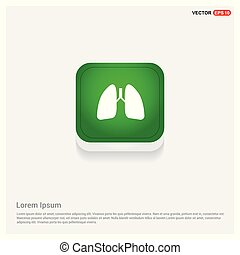 Lungs icon Green Web Button