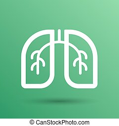 Lungs icon isolated on white background. VECTOR art