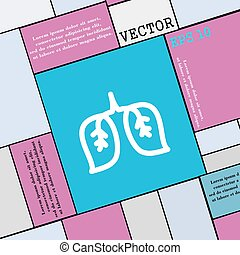 lungs icon sign. Modern flat style for your design. Vector