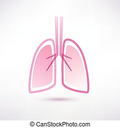 lungs isolated vector symbol