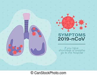 Lungs with 2019 ncov virus vector design