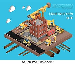 luogo costruzione, illustrazione