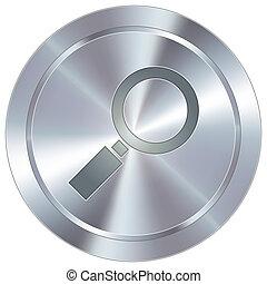 lupa, industrial, botón