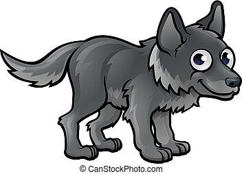 lupo, carattere, cartone animato