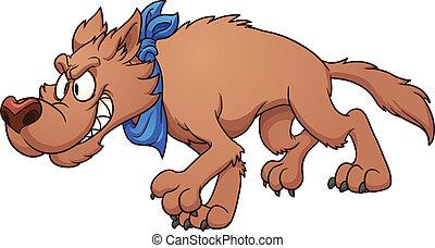lupo, cartone animato