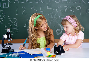 lurar, deltagare, in, klassrum, portion varje annan