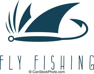 lure fly fishing simple vector design template