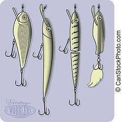 lures(wobblers), peche, artificiel