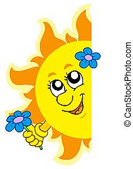 Lurking Sun with flower