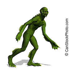 Lurking Swamp Creature - The swamp creature emerges from ...