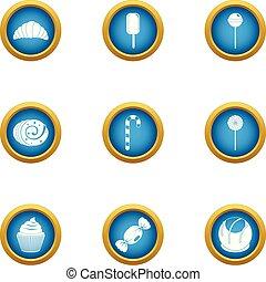 Luscious icons set, flat style