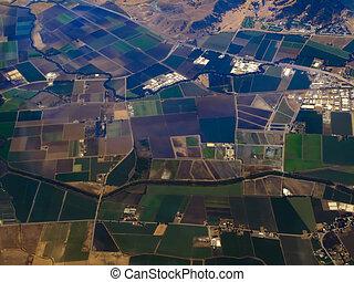 Lush Fertile Fields of San Diego -Aerial View