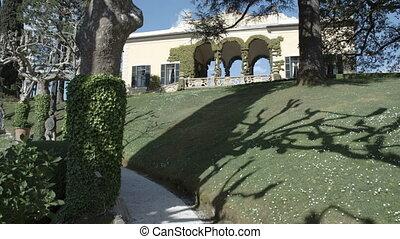 Lush green European garden in Italy