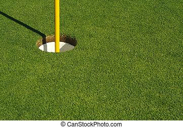 Lush Mowed Golf Green