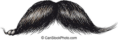 lush old-fashioned gentlemans mustache famously twisted tip