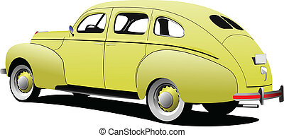 lusso, 1950's, isolato, coupe, ba