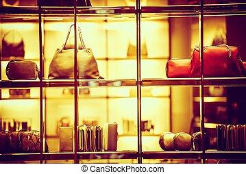 lusso, beni, shopping