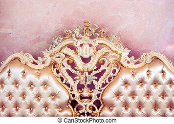 lusso, mobilia, detail., interno