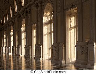 lusso, palazzo, interno