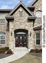 lusso, pietra, casa
