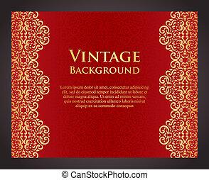 lusso, sfondo rosso, in, vendemmia, stile