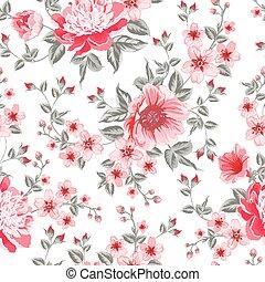 lussuoso, colorare, peonia, pattern.