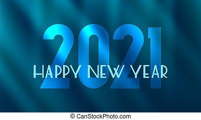 lussuoso, fondo., fresco, elegante, card., anno nuovo, iscrizione, 2021, felice, astratto, simboli