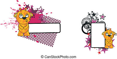 lustiges, giraffe, karikatur, copyspace6