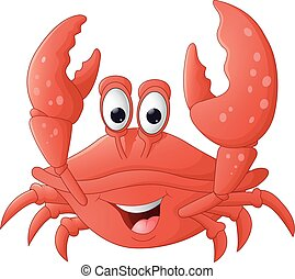 lustiges, karikatur, krabbe
