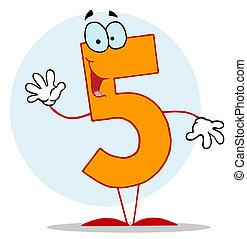lustiges, karikatur, numbers-5