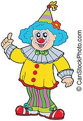 lustiges, lächeln, clown