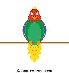 lustiges, papagai, mehrfarbig