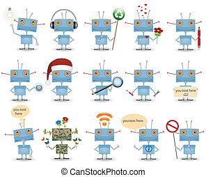 lustiges, satz, karikatur, roboter