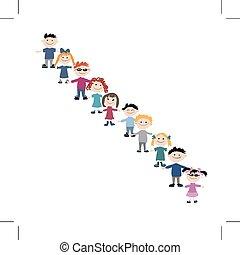 vektoren illustration von gruppe gekritzel skizze