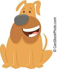 lustiges, stier, zeichen, karikatur, hund