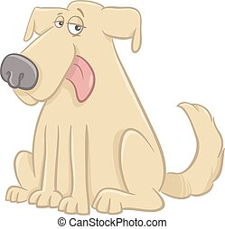 lustiges, zeichen, hund, karikatur