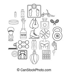 Lustiness icons set, outline style - Lustiness icons set....