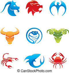 lustré, icônes animales