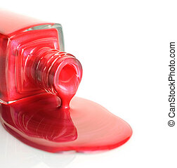lustrador prego, vermelho