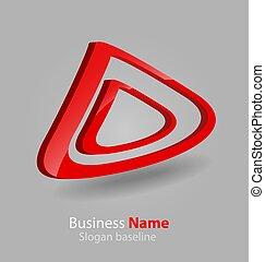 lustroso, 3d, logotipo, abstratos
