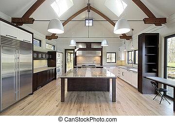 lustroso, modernos, cozinha