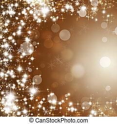 lustrzany, blask, gwiazdy